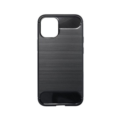 Capa Silicone Forcell Carbon iPhone 12/12 Pro Preta