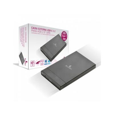 "HDD/SSD Enclosure BlueRay 2.5"" USB-C Black"