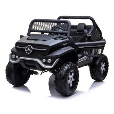 Electric car Mercedes Unimog 12V Black