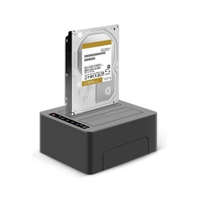 Dock Station BlueRay 2x Hdd 2,5/3,5p Sata Ext USB 3.1