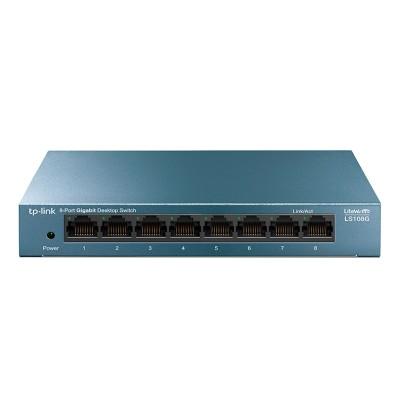 Switch TP-Link 8 Doors 10/100/1000 Mbps Blue (LS108G)