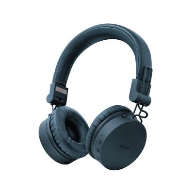 Auscultador Bluetooth Trust Tones Wireless Azul