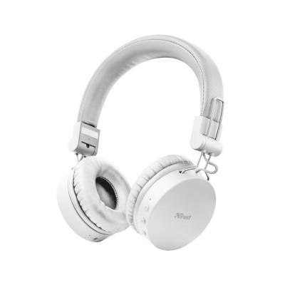 Auscultador Bluetooth Trust Tones Wireless Branco
