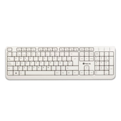 Keyboard NGS USB Spike White