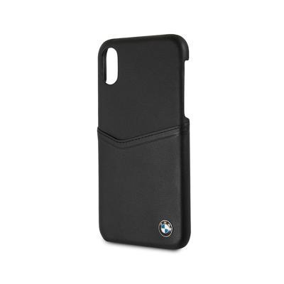Capa Pele iPhone X BMW Preta (BMHCPXGLCSBK)
