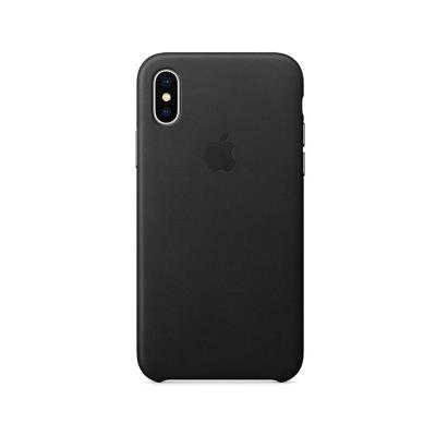 HARD LEATHER CASE ORIGINAL APPLE MQTD2ZM/A IPHONE X PRETA