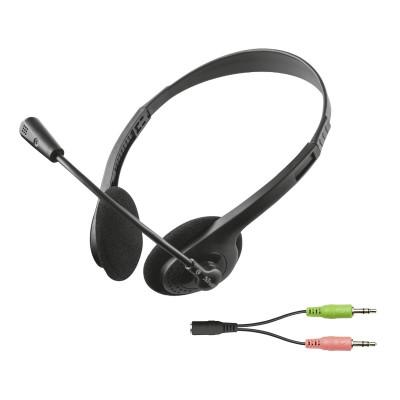 Headset c/Microfone Trust Primo Chat Preto (21665)