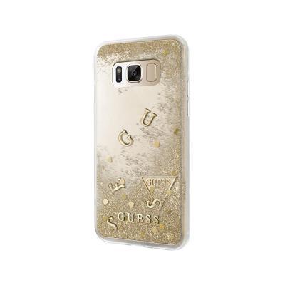 Funda Silicona Guess Aqua Samsung Galaxy S8 Plus G955 Dorado (GUHCS8LGLUFLGO)