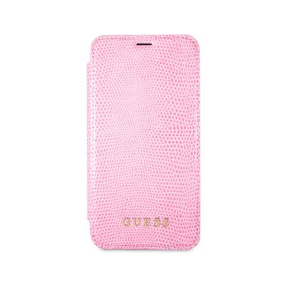 Capa Flip Cover Guess iPhone X Rosa (GUFLBKPXPYLPI)
