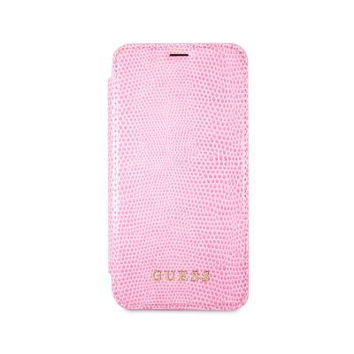 Capa Flip Cover Guess iPhone X Rosa (GUFLBKPXPYLPI)