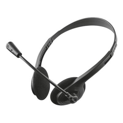 Headset Trust Ziva Chat w/Microphone Black