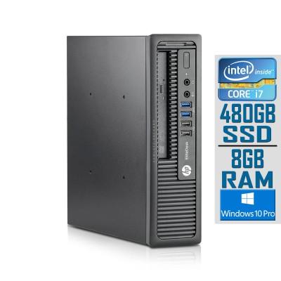Desktop HP EliteDesk 800 G1 USDT i7-4765T SSD 480GB/8GB Refurbished