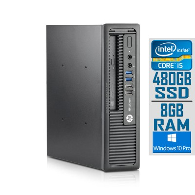 Desktop HP EliteDesk 800 G1 USDT i5-4590S SSD 480GB/8GB Refurbished