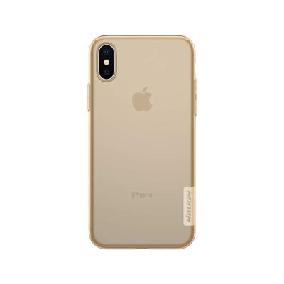 Capa Silicone Nillkin iPhone X Castanha