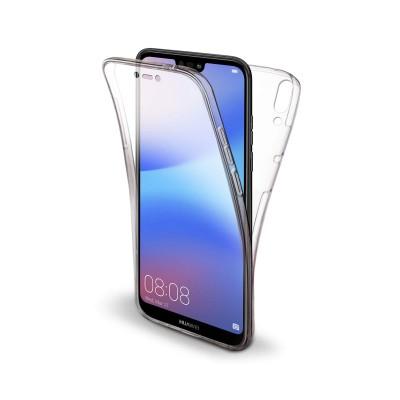 Funda Silicona 360º Forcell Carbon Huawei P40 Lite Transparente