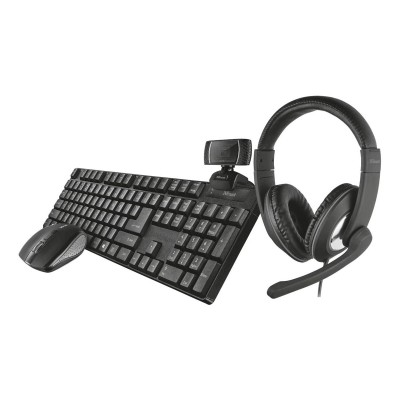 Set Trust 24042 Qoby 4-in-1 Webcam+Mouse+Headset+Keyboard (ES)
