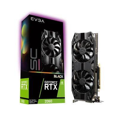 Placa Gráfica EVGA Geforce RTX 2060 SC ULTRA BLACK 6GB GDDR6