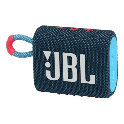 Coluna Portátil JBL GO 3 Bluetooth Azul Coral (JBLGO3BLUP)