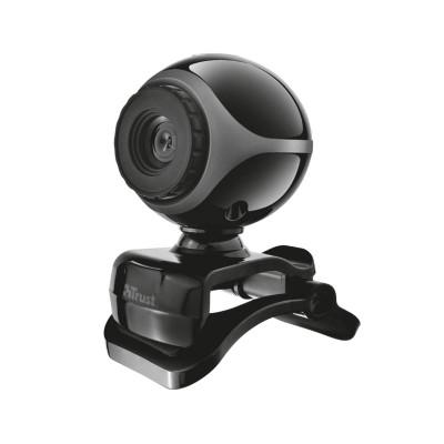 Webcam Trust Exis Webcam c/Microfone Preta (17003)