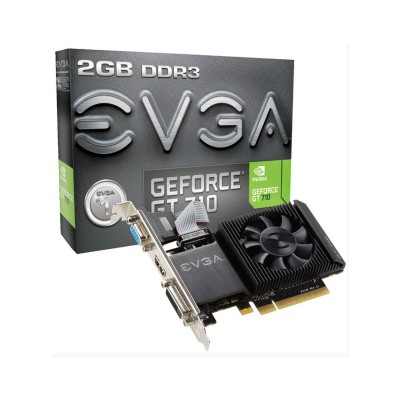 Placa Gráfica EVGA GeForce GT 710 2GB DDR3 Low Profile