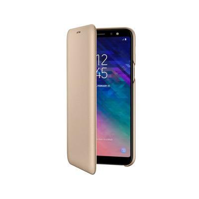 Funda Flip Wallet Original Samsung A6 2018 Dorada (EF-A600CFE)