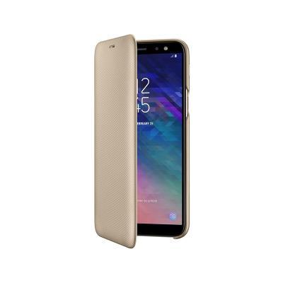 Capa Flip Wallet Original Samsung A6+ 2018 EF-A605CFE Dourada