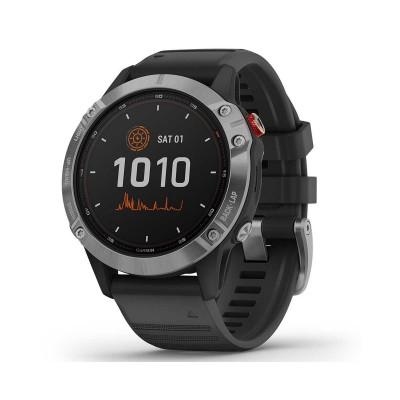 Smartwatch Garmin Fenix 6 Solar Prateado/Preto