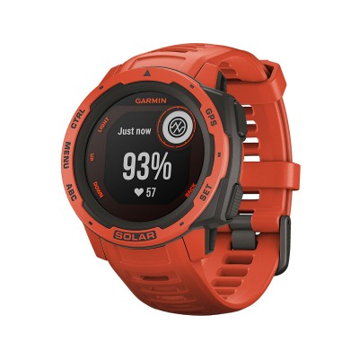 Smartwatch Garmin Instinct Solar Fire Red