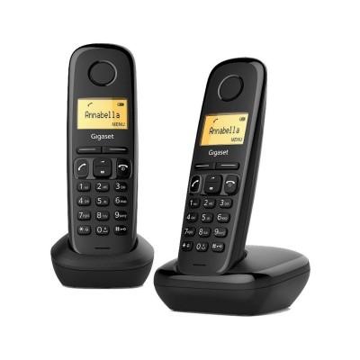 Telefone Fixo Sem Fios Siemens Gigaset A270 Duo Preto