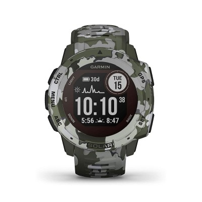 Smartwatch Garmin Instinct Solar Camo Edition Camouflage Green