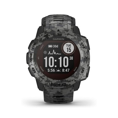 Smartwatch Garmin Instinct Solar Camo Edition Camouflage Grey