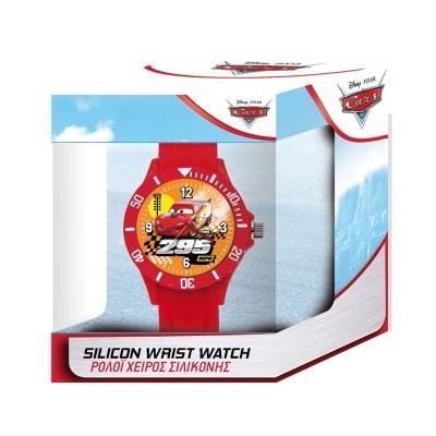 Relógio de Criança Silicone Disney Pixar Cars Vermelho