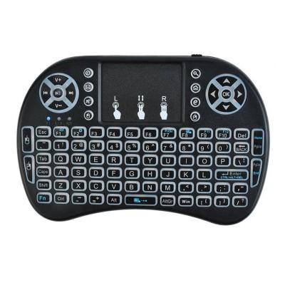 Teclado Sem Fios ISO 5605 Qwerty c/ Touchpad Preto