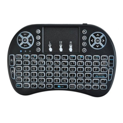 Wireless Keyboard ISO 5605 Qwerty w/ Touchpad Black