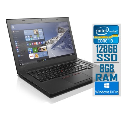 "Laptop Lenovo ThinkPad T460 14"" i3-6100U SSD 128GB/8GB Refurbished"