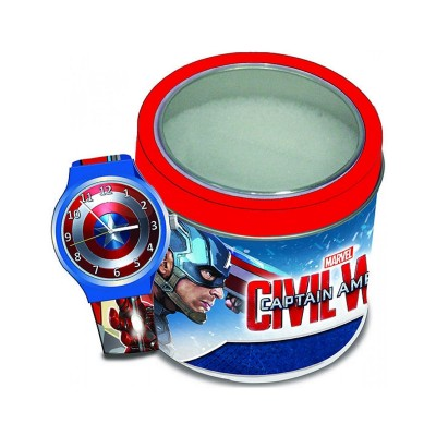 Silicone Children's Watch Marvel Captain America