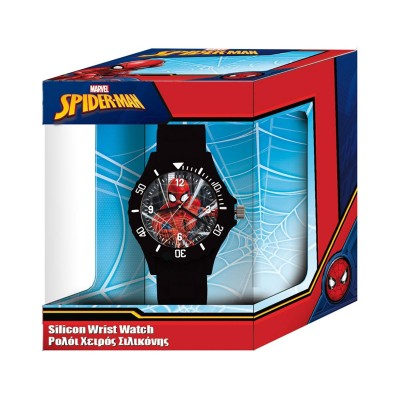 Silicone Children's Watch Marvel Spiderman Black