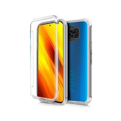 Capa Silicone Frente e Verso Xiaomi Pocophone X3 Transparente