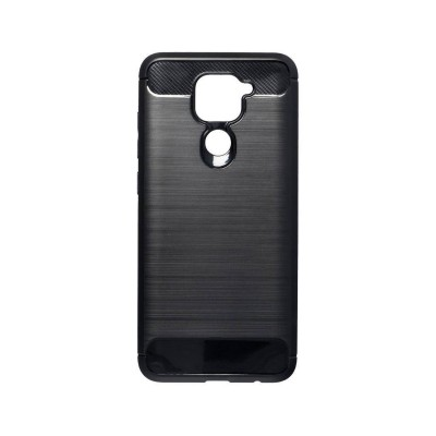 Silicone Carbon Cover Forcell Xiaomi Note 9 Black