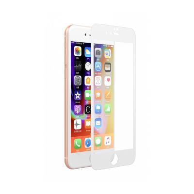 IPHONE 7 PLUS FULLSCREEN WHITE TEMPERED GLASS FILM