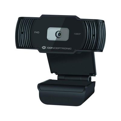 Webcam Conceptronic AMDIS FHD 30fps c/Microfone Preta (AMDIS04B)