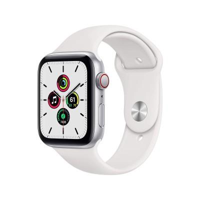 Smartwatch Apple Watch SE GPS+Cellular 44mm Alumínio Prateado c/Bracelete Desportiva Branca
