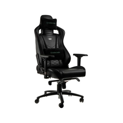 Silla Gaming Noblechairs EPIC PU Leather Negra/Verde (NBL-PU-GRN-002)