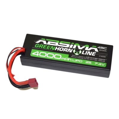 Battery Absima GreenHorn Stick Pack 7.4V 4000mAh Li-Po (4140008)