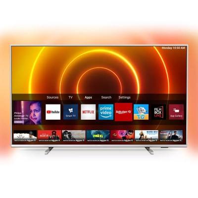 """TV Philips 58"""" 4K UHD SmartTV LED PUS7855 Prateada"""