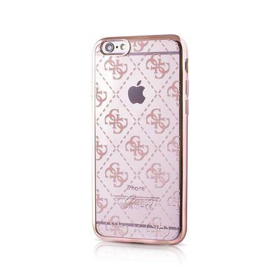 Capa Silicone Guess iPhone 6/6S Rosa Dourado (GUHCP6LTR4GRG)
