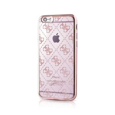 Guess Silicone Case iPhone 6/6S Rose Gold (GUHCP6LTR4GRG)
