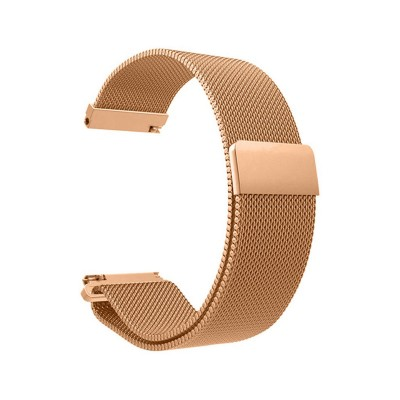 Metal Watch Band Universal 20mm Pink