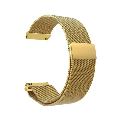 Metal Watch Band Universal 20mm Gold