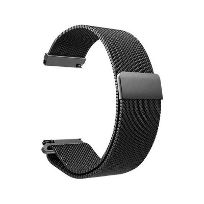 Metal Watch Band Universal 20mm Black